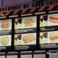 The Backlot Express menu - request food allergy free foods
