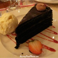 Chocolate cake at Chefs de France