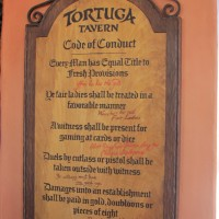 The code of conduct at Tortuga Tavern - should include a food allergy statement!