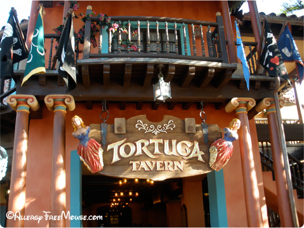 Tortuga Tavern with a food allergy