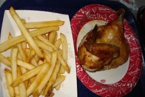 Food allergy dining at Cosmic Ray's Starlight Cafe