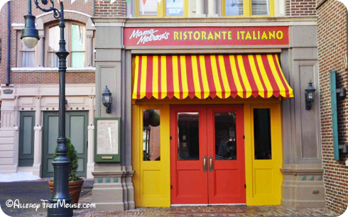 Mama Melrose's Italian dining with a food allergy