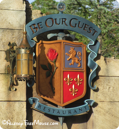 Dining at Be Our Guest with food allergies