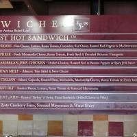 Earl of Sandwich menu right