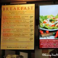 Earl of Sandwich breakfast menu options