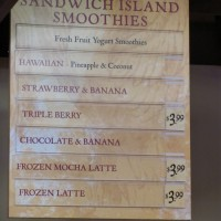 Smoothies at Earl of Sandwich