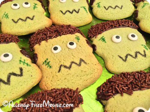 Food allergy-free Frankenstein cookies