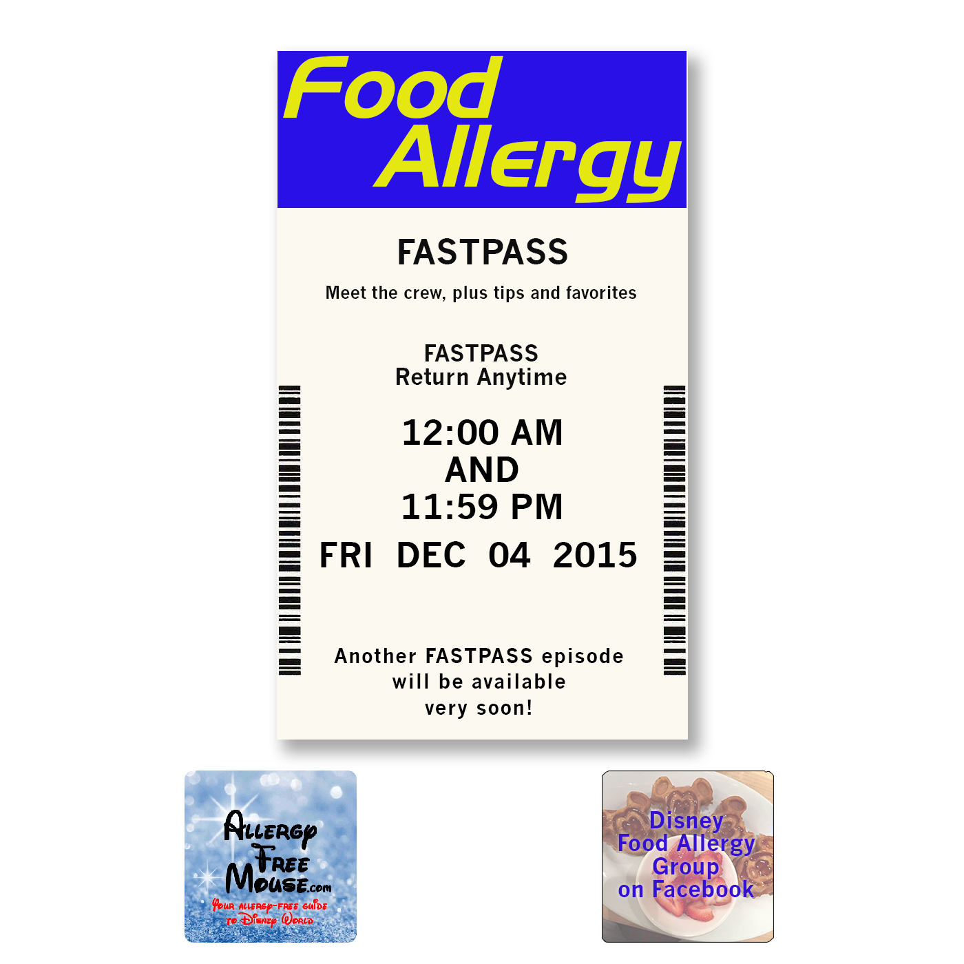 Food Allergy FastPass for Disney fans