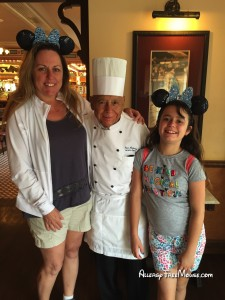 Lizzie, Charlotte and Chef Oscar