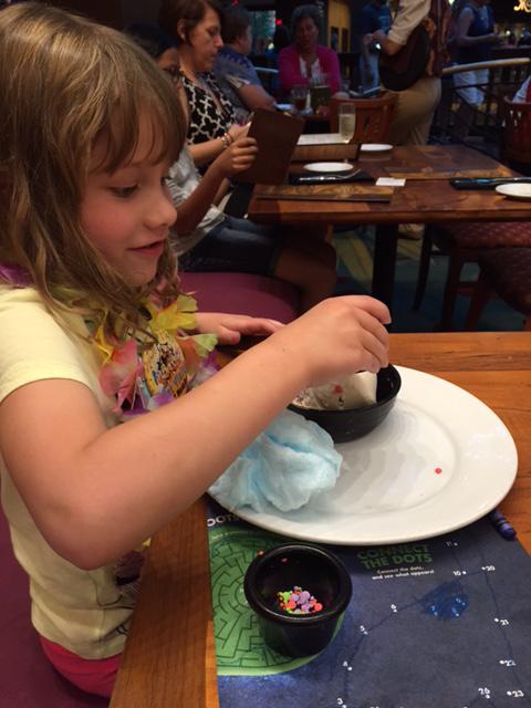 Disney Kona Cafe dairy-free egg-free sundae