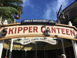 Disney's Skipper Canteen with food allergies