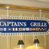 Captain's Grill lunch with dairy and egg allergies