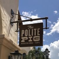 The Polite Pig allergy menu – Disney Springs