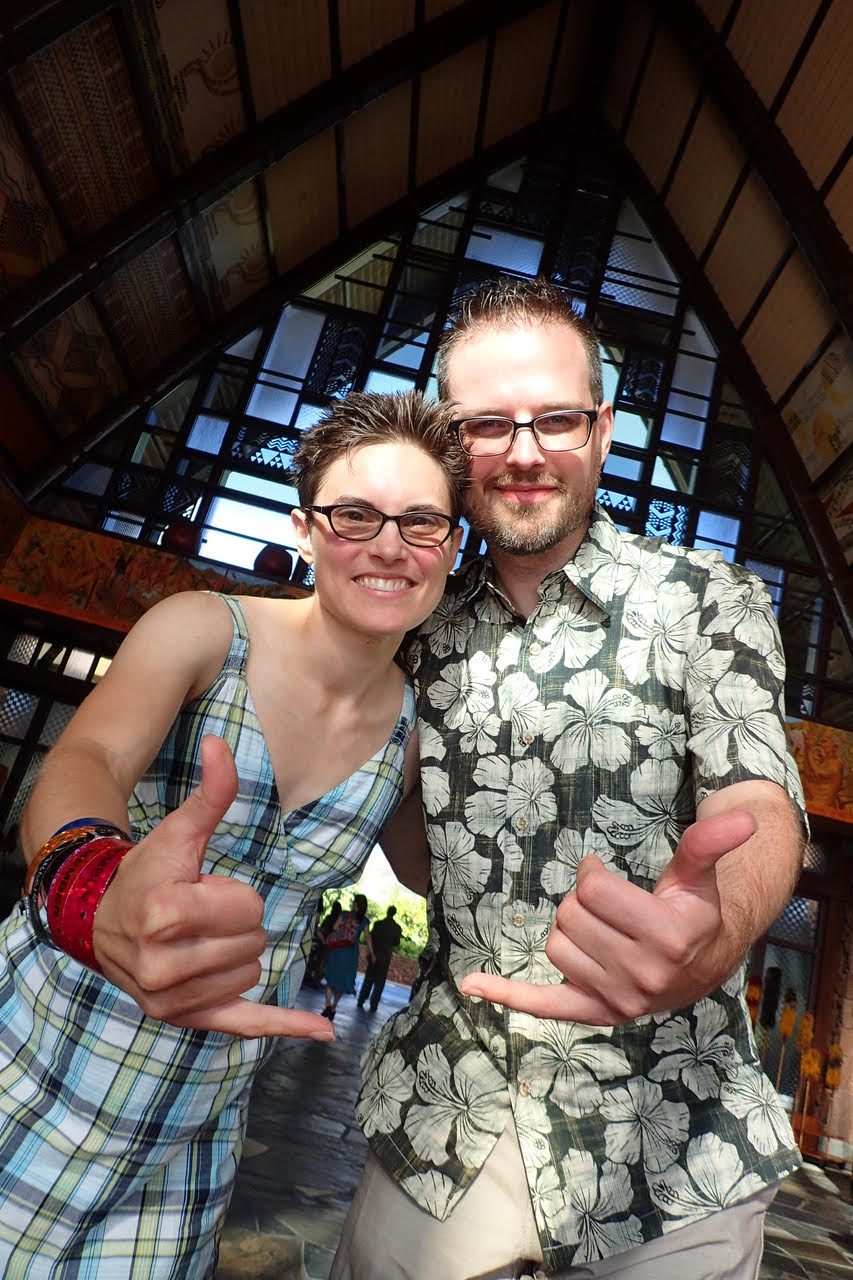Jennifer and Kyle at Aulani with food allergies