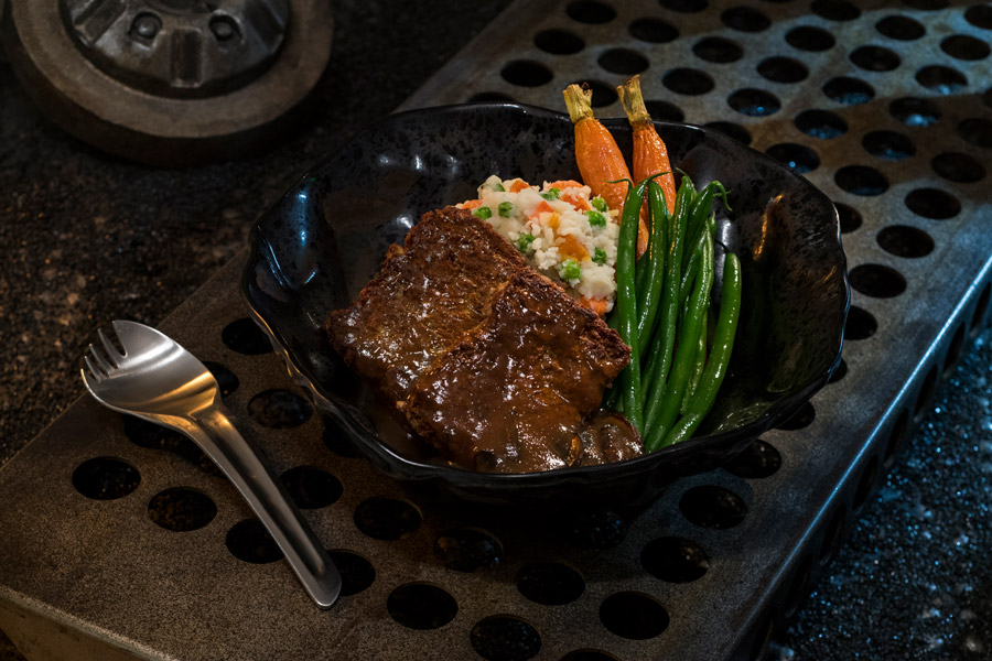 Galaxy's Edge Docking Bay 7 food and cargo - vegetarian meatloaf