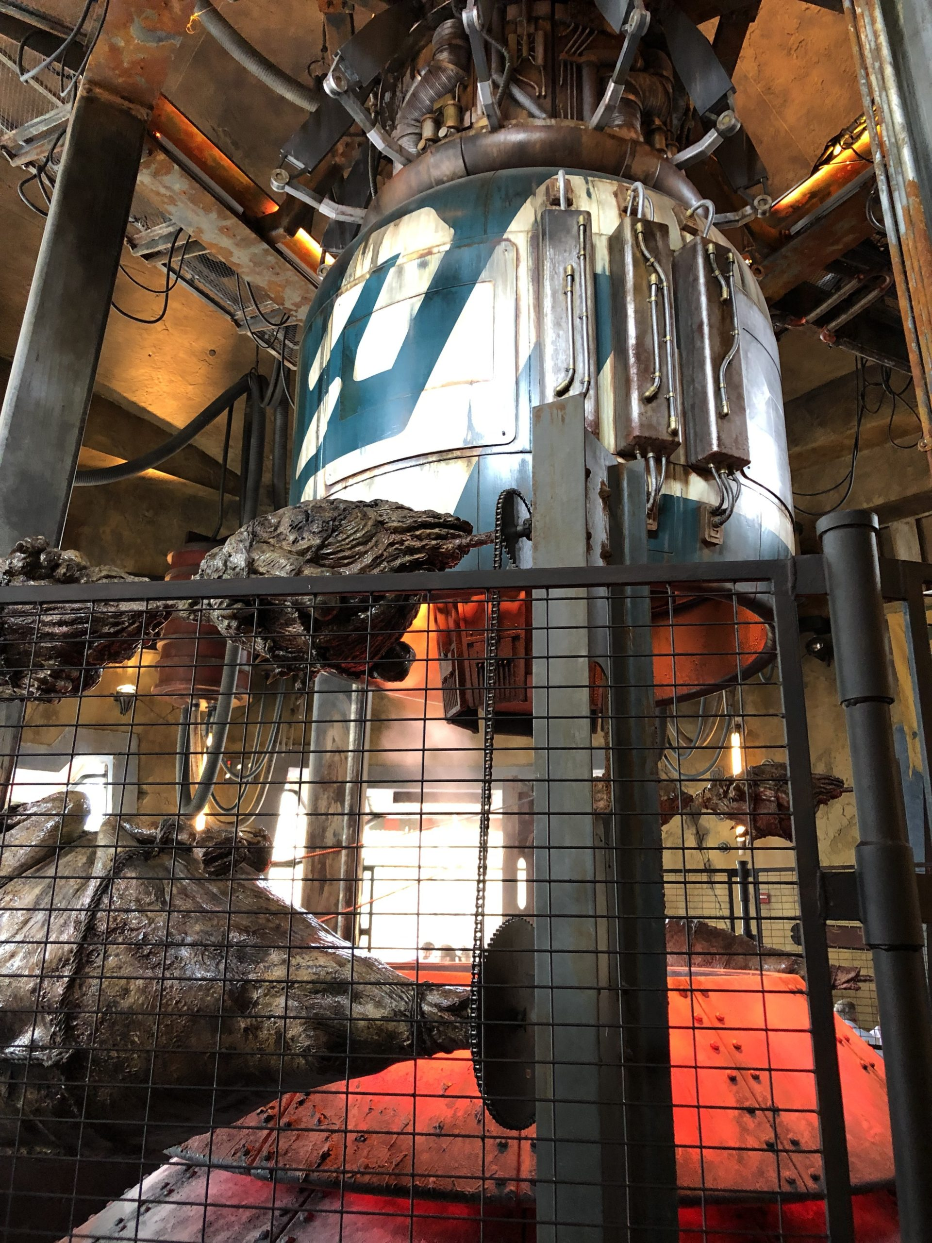 The podracer engine that roasts the meat at Ronto Roasters