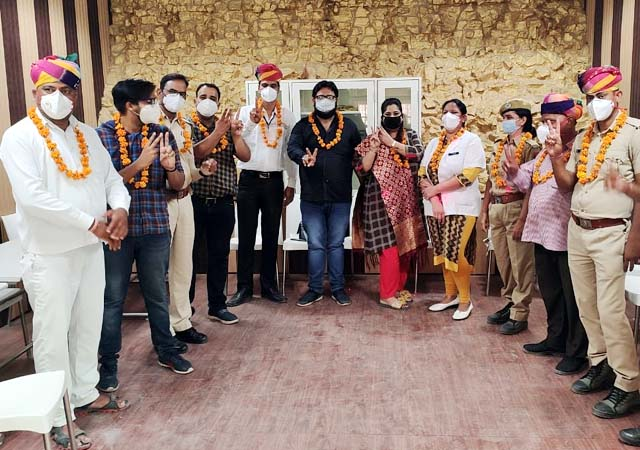 Corona warriors honored in Bikaner