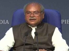 Agriculture Minister Narendra Singh Tomar