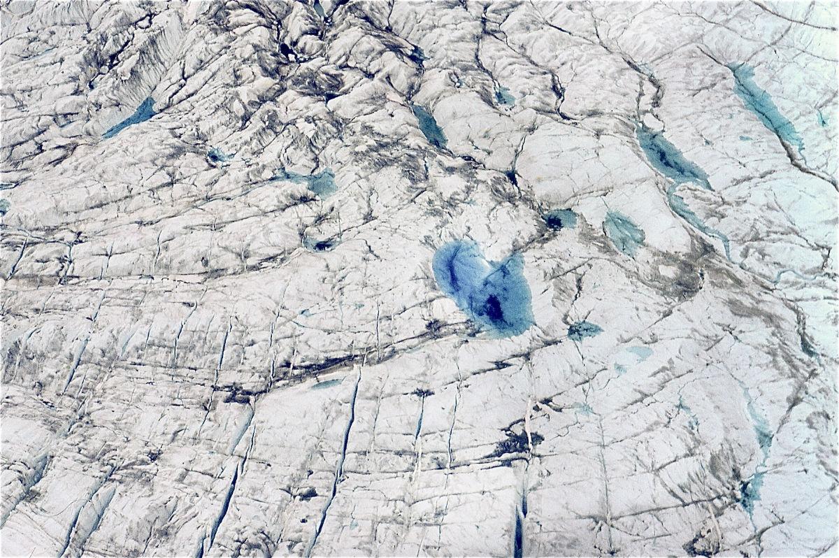 Illuliasat Glacier photo from a plane