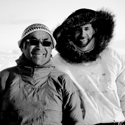 Patrick Morell and Inuit Narwhal Hunter