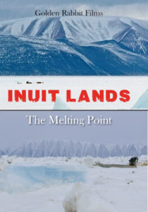 Thule Greenland Icebergs with Dog Sled of Seal Hunter on the Ice