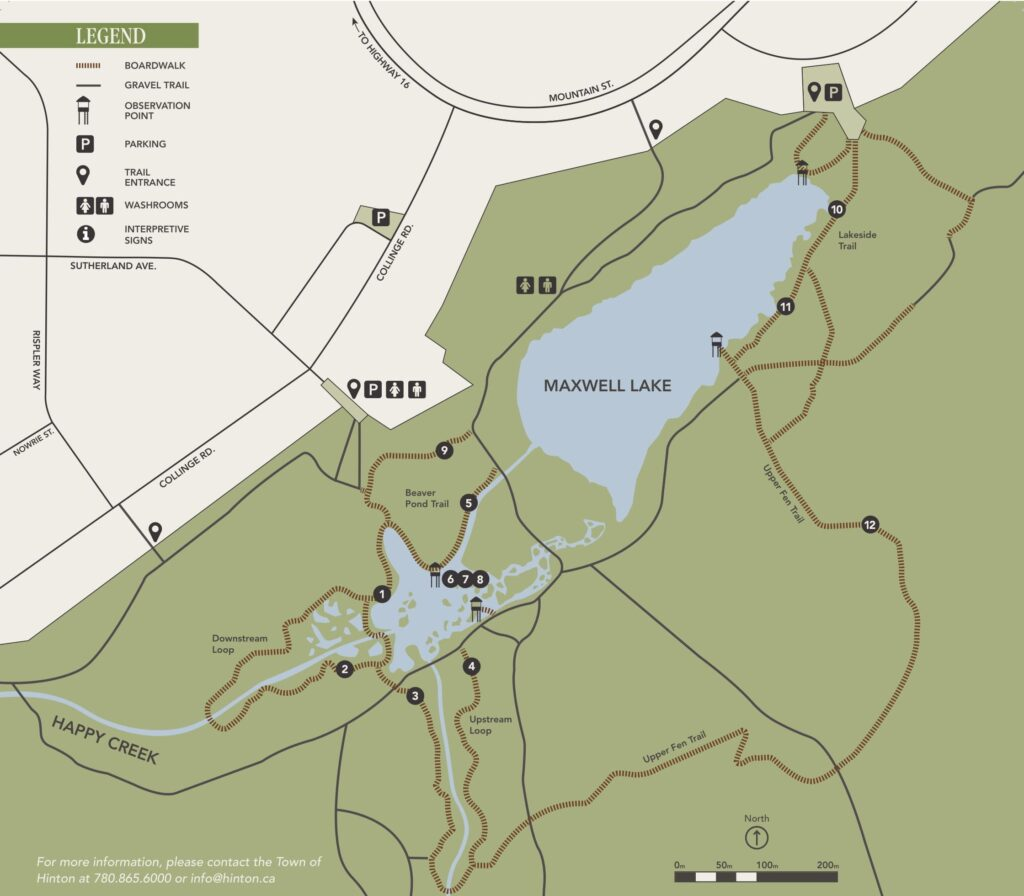 map of beaver boardwalk