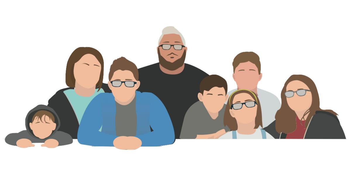 Family cartoon image