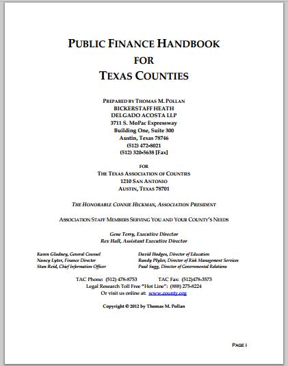 Public Finance Handbook
