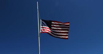 US Flag Flying at Half Mast