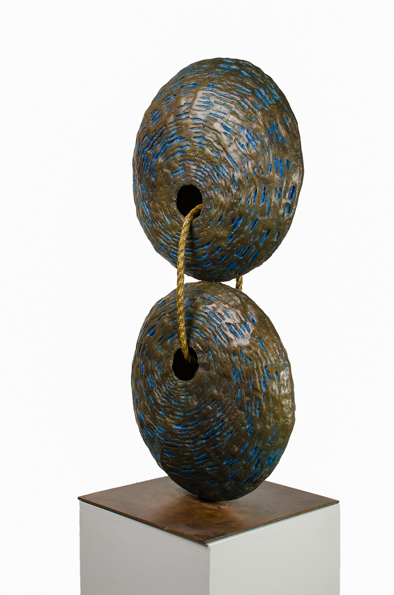 As Above so Below, bronze sculpture by Beatriz Gerenstein