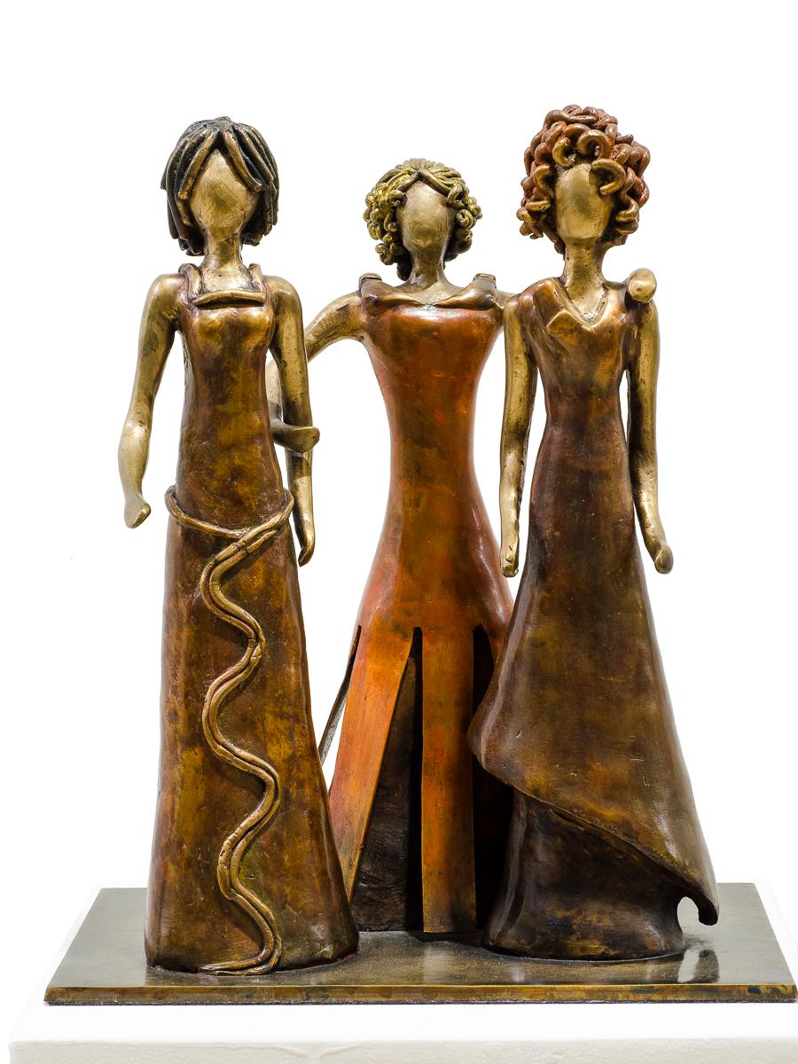 Friendship, bronze sculpture by Beatriz Gerenstein