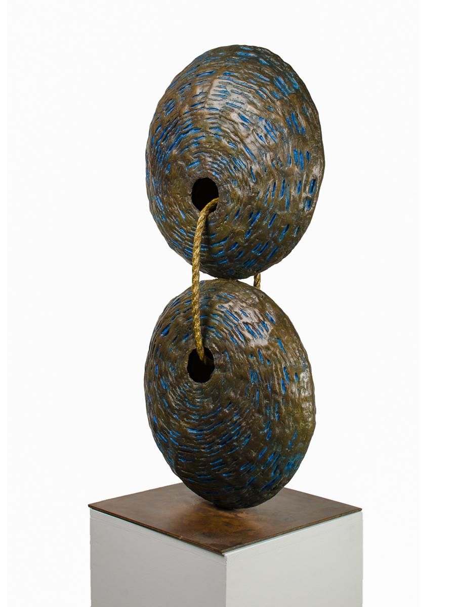 As Above so Below, bronze sculpture by Beatriz Gerenstein