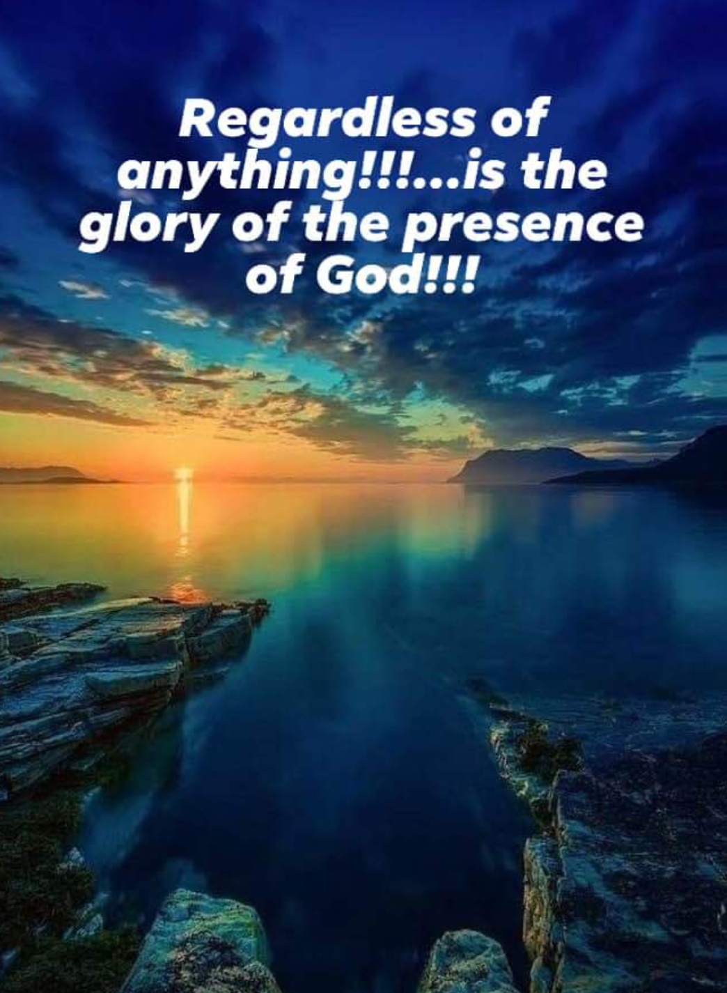 GOD'S GLORY, IN YOU!