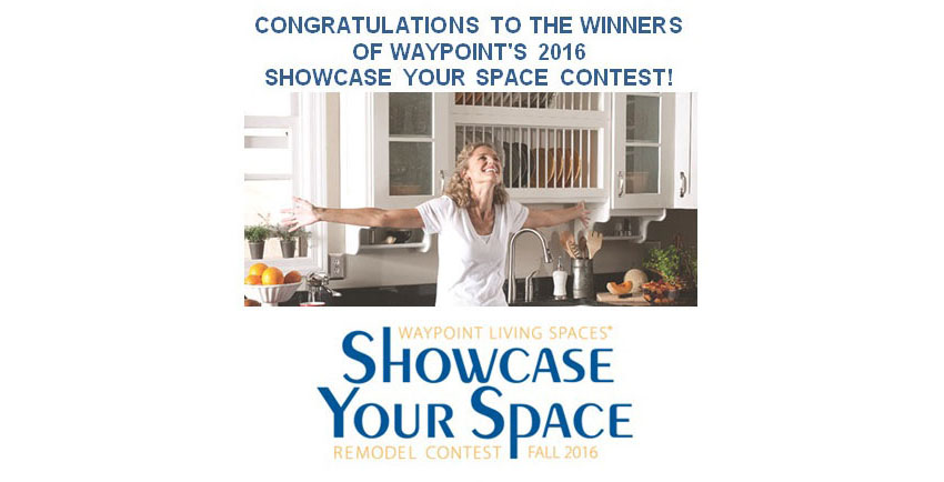 Congratulations to the winners of Waypoint's 2016 SHOWCASE YOUR SPACE CONTEST!