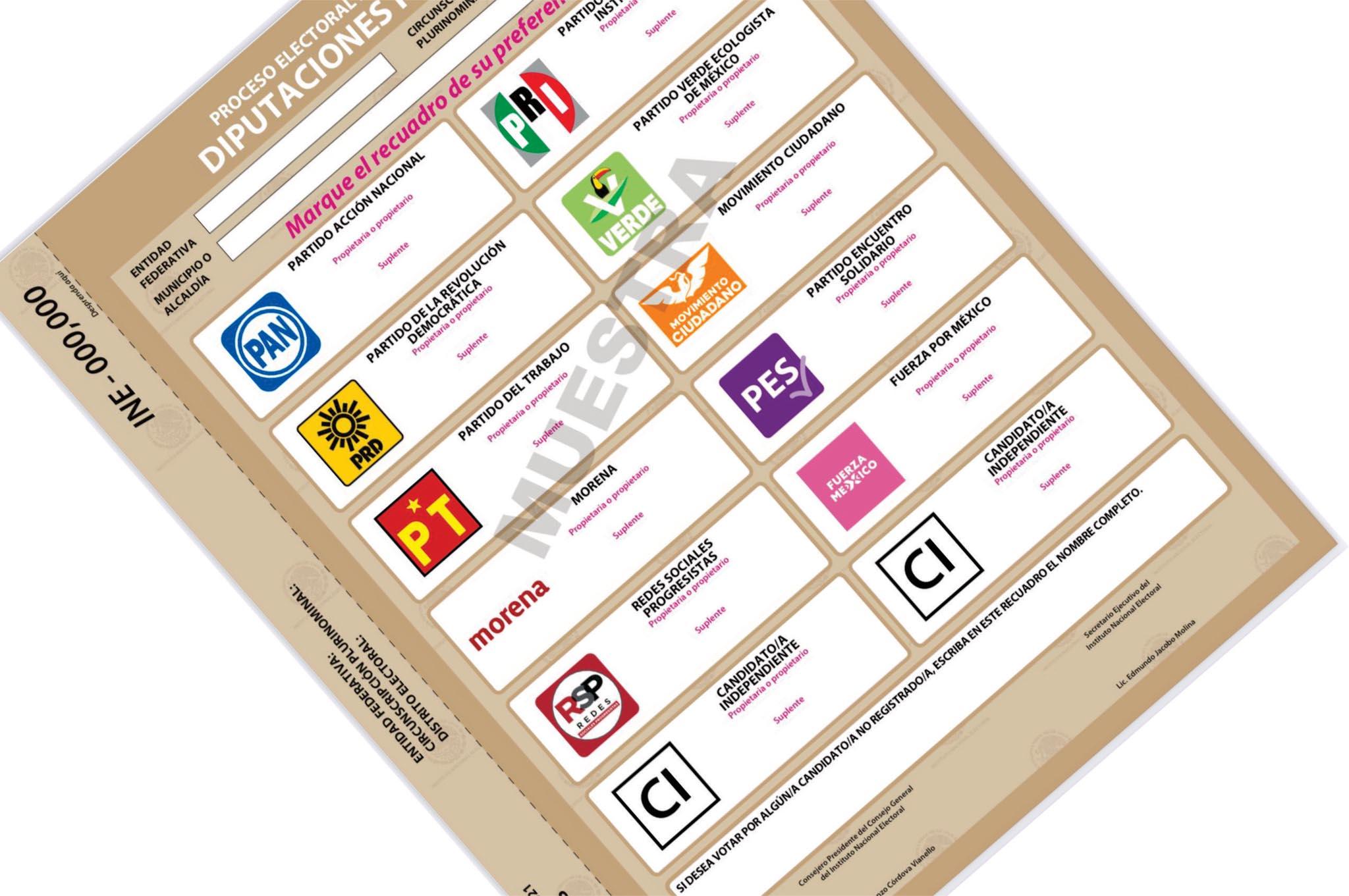Aprueban boleta para la jornada electoral del 6 de junio