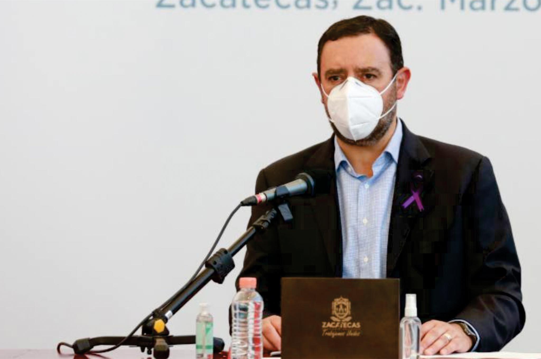 Anuncia gobernador arranque de vacunación e Zacatecas y Guadalupe