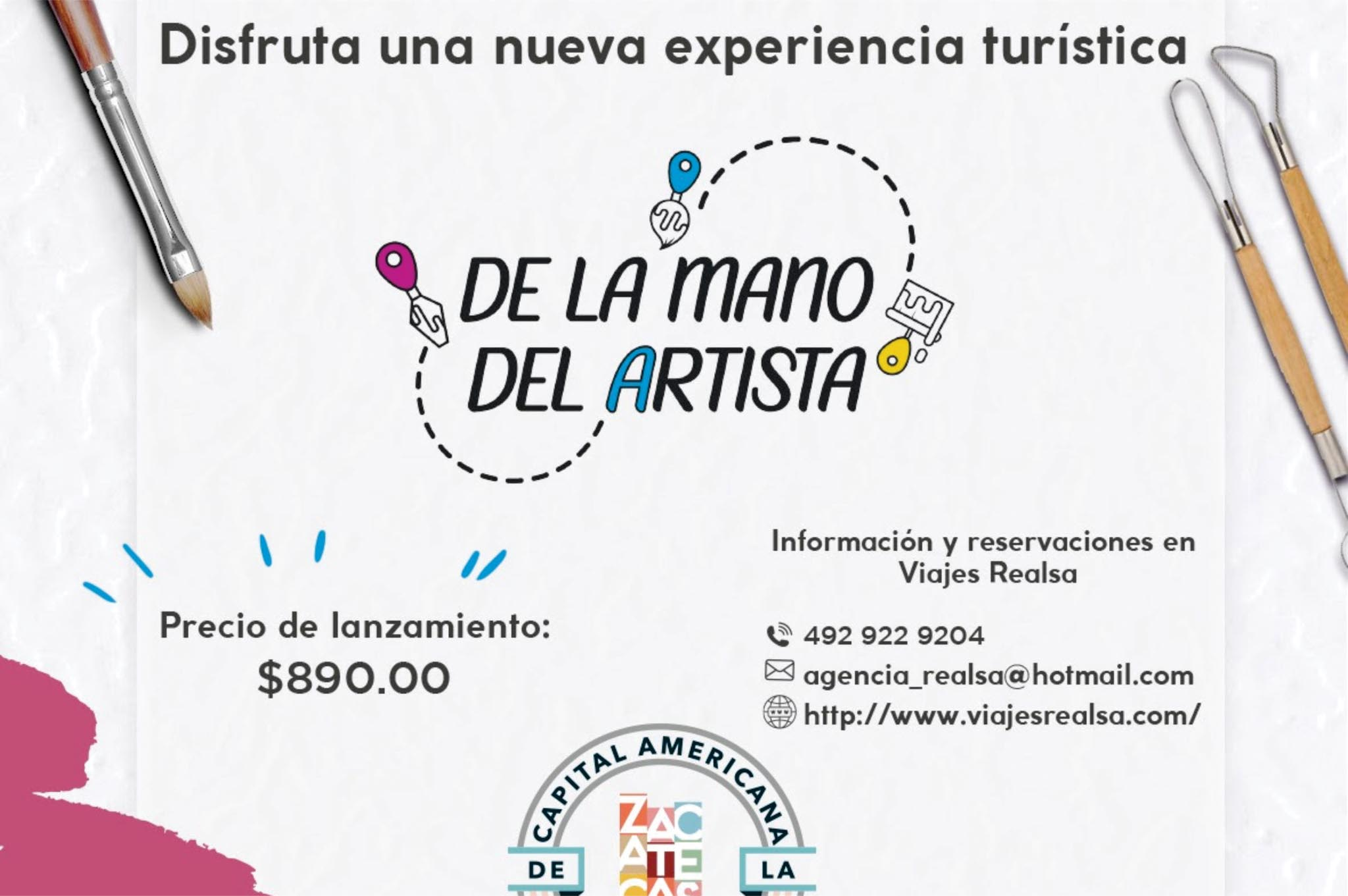 Ofrece Zacatecas nueva experiencia turística: de la mano del artista
