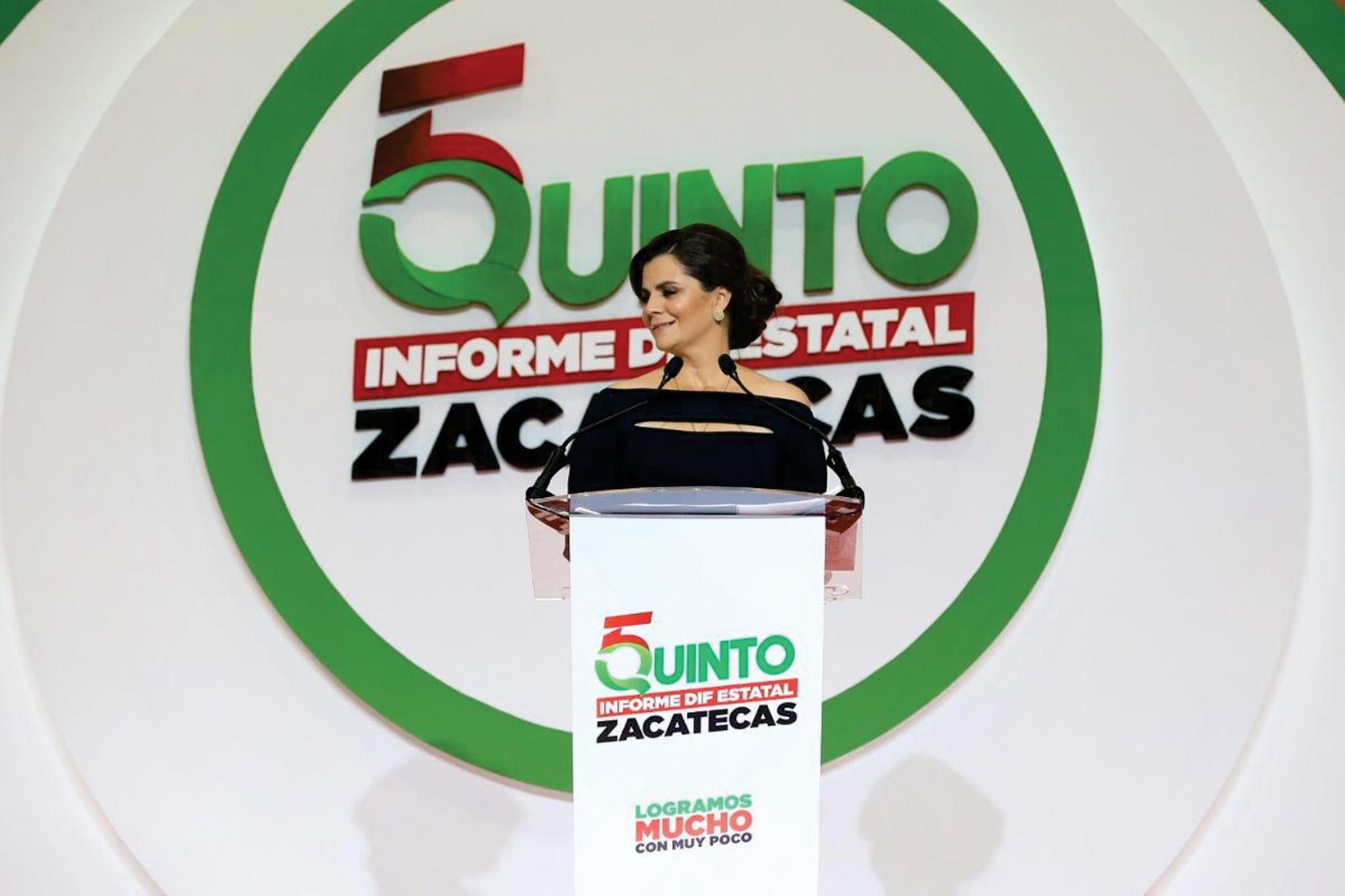 Cristina Rodríguez rinde su último informe al frente del DIF Estatal