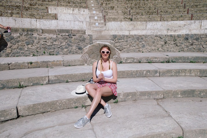 Claire Etchell, Naked PR Girl_at Pompeii, Italy