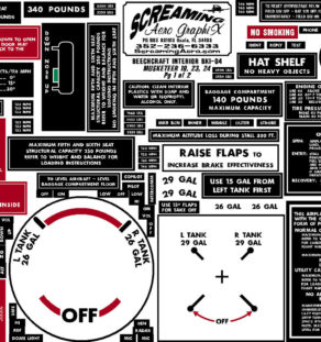 Uploaded ToBeechcraft-Interior-Placard-KIT-MUSKETEER-19-23-24