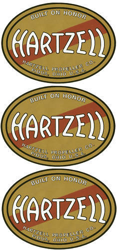 Hartzell Prop Decal Set of 3