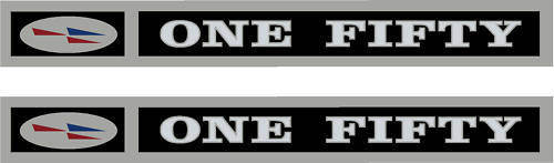 Cessna 150 Cowling Chrome Decal PAIR (2)