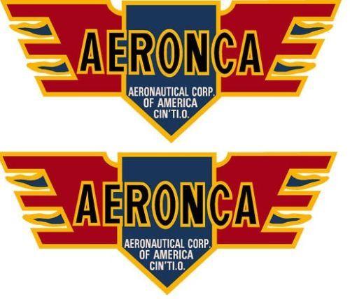 Aeronca Logo 30's Old Style Pair(2) Decal