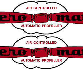 Aero Matic Prop Decal Pair (2)