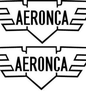 Aeronca Logo Decal PAIR
