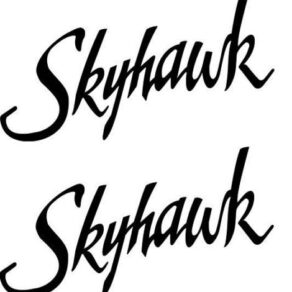 Cessna 172 Skyhawk Logo Decal PAIR (2)