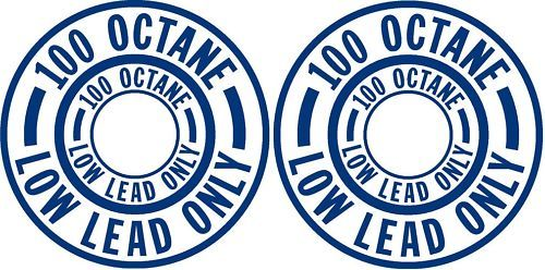 Pair 100 Low Lead Only Fuel Placard