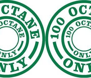 Pair 100 Octane Only Fuel Placard