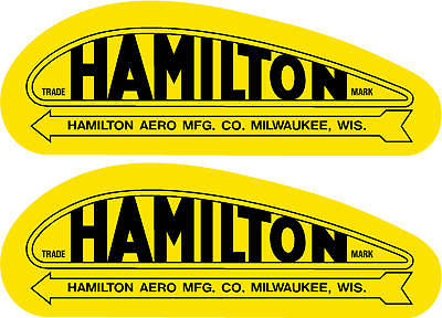 Hamilton Aero Mfg. Prop Decal PAIR (2)