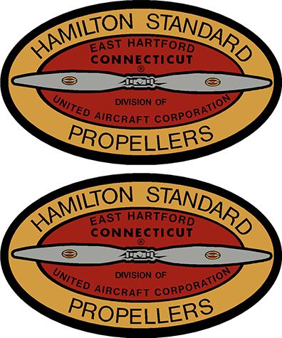 Hamilton Standard 1939-1952 Prop Propeller Decal